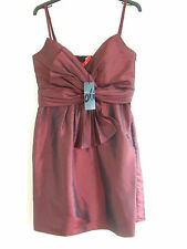 NEW Stunning Burgundy Fully Lined Dress by Oli, Bridesmaid, Prom, Party, Size 10