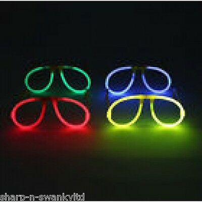 Adult Glow in the Dark Glowstick Rave Festival Essentials Glasses Fancy Dress
