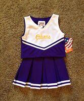 Girls Size 12 Cobras Purple & White Cheerleading Dress Up Uniform Costume