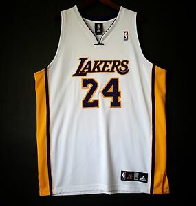 100% Authentic Adidas Kobe Bryant Lakers NBA #24 Home ...