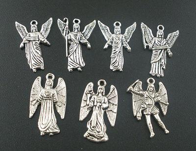 40PCs MIXED Silver Angel Charms Pendants Fashion
