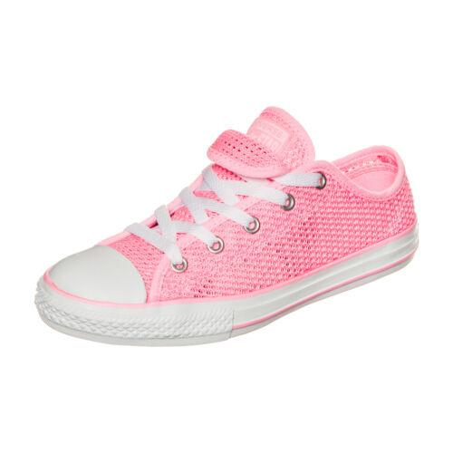 Converse Chuck Taylor All Star Double Tongue OX Sneaker Kinder Rosa NEU