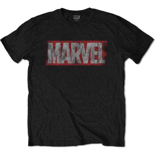 Marvel Logo Official Distressed Avengers Black Mens T-shirt
