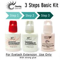 Eyelash Extension 3 Steps Basic Glue Kit---with Strong Glue