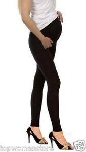 f4199d0064d49 Image is loading Top-Woman-Maternity-Cotton-Leggings-Over-Bump-Pregnancy-