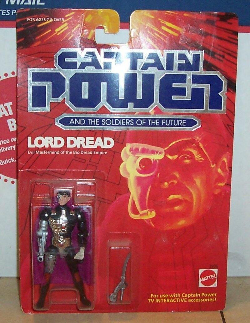 1987 Mattel Captain Power LORD DREAD Action Figure NRFP VHTF