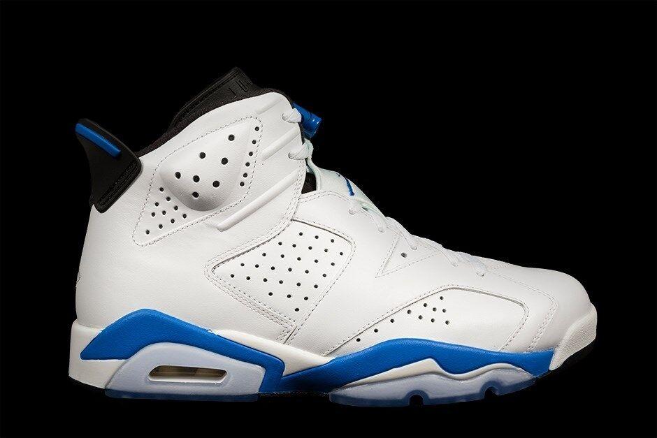 Nike Nike Nike Air Jordan VI 6 Sport retro blanco azul 2018 Release DS 384664-107 el mas popular de zapatos para hombres y mujeres e5ba7c