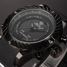 SHARK Men's Digital LED Black Silicone Date Day Wrist Quartz Luxury Sport Watch