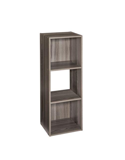 ClosetMaid 4165 Cubeicals Organizer, 3-Cube, Natural Gray