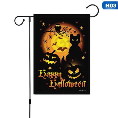 Halloween Pumpkin Owl Sunflower Garden Flags Double Sided  DecorLawnYard Flags