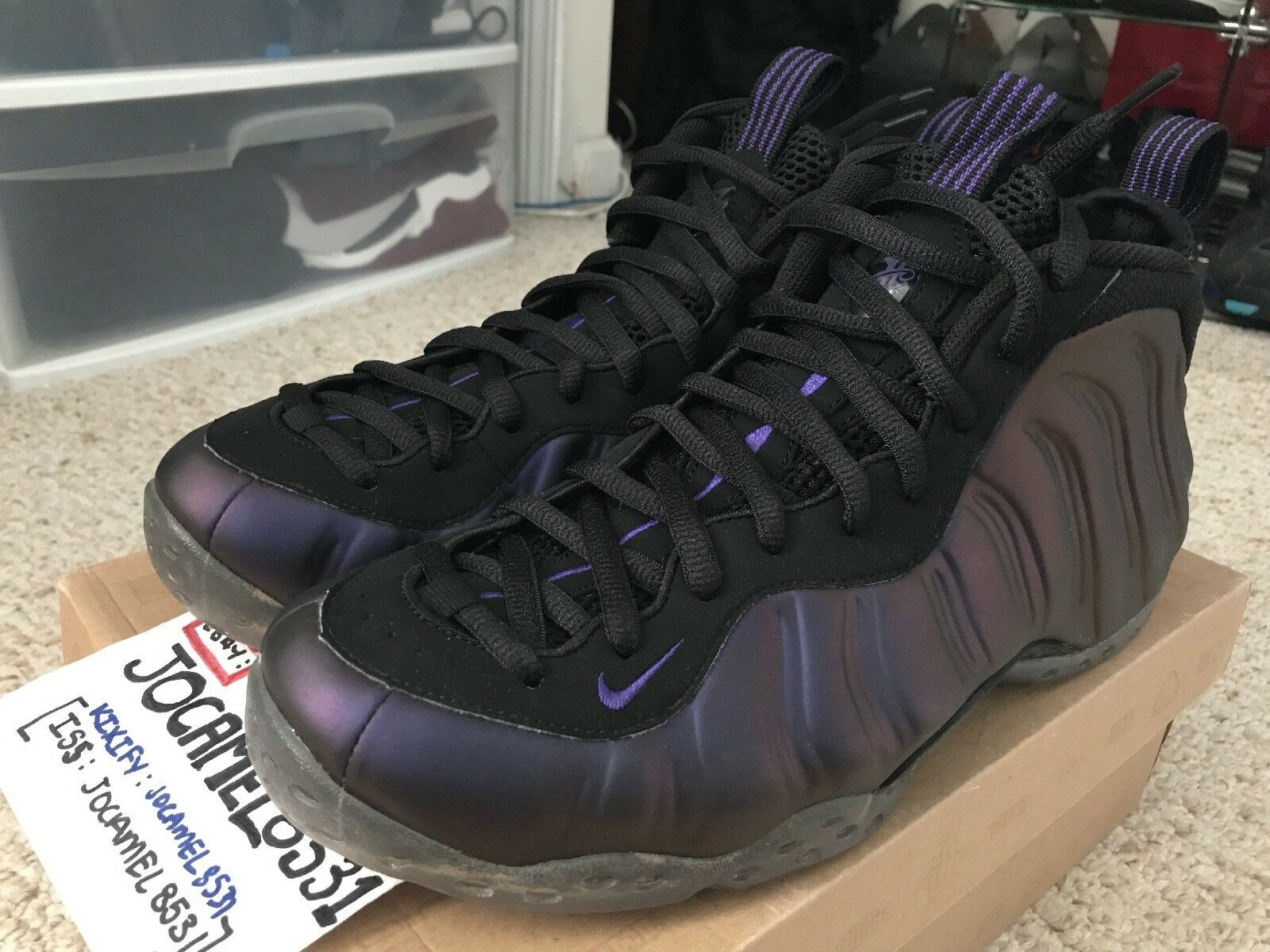 51e231d114 Nike Foamposite One Eggplant 2010 Edition 10.5 DS Deadstock Air Size ...