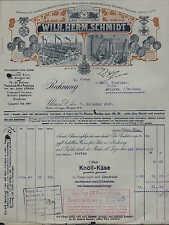 ULM a. d. Donau, Rechnung 1925, Käse-Fabrikation Wilh. Herm. Schmidt