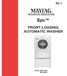 maytag epic front load washer service repair manual ebay rh ebay com Maytag Washer Troubleshooting maytag epic z washer manual pdf