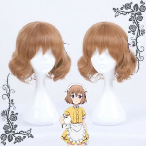 Details About Anime Blend S Hoshikawa Mafuyu Imoto Maid Curly Cosplay Short Hair Wig Hairpiece