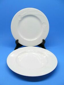 Mikasa-Classic-Flair-White-8-Inch-Salad-Plates-Set-Of-2-Plates