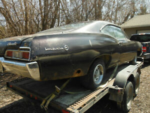 67 IMPALA 2DR 327 RUNNING PROJECT/WITH 67 IMPALA CONV/PARTS CAR