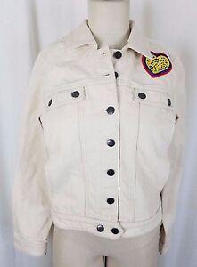 Anthropologie-Maison-Labiche-Embroidered-Heart-Denim-Jacket-Womens-M-Jean-Creme