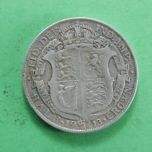 1913 George V Silver Half-Crown Really good detail SNo61100