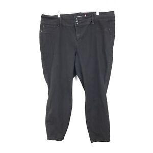 2595b8f5317 Torrid Women s Plus Size 24 R Washed Black Skinny Ankle Jeans ...
