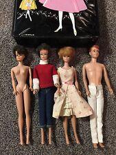 Vintage Barbie Lot Midge Dolls Alan Midge Case