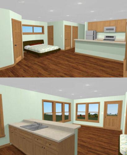 PDF Floor Plan Studio 1 Bath Model 1D 30x20 House 600 sq ft