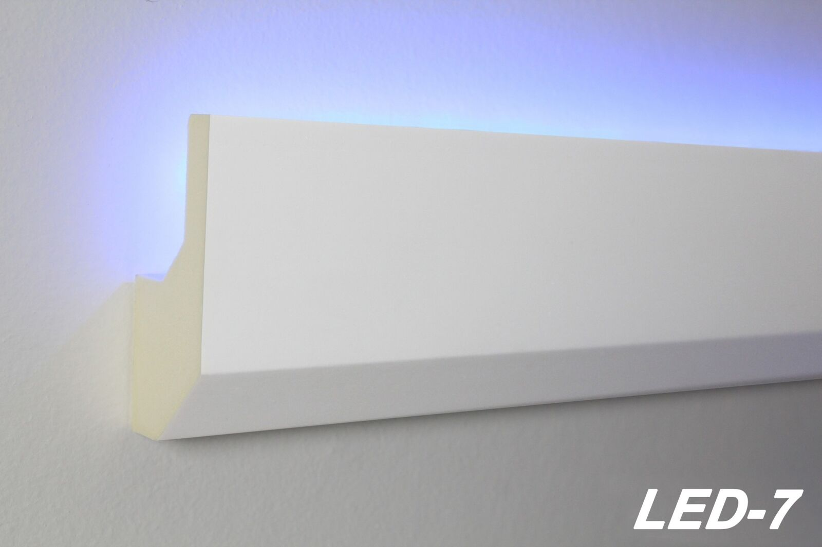 10 Mètres Led Profil Pu Pu Pu Moulure en Stuc Eclairage Indirect Antichoc 80x33, LED-7 e727e6