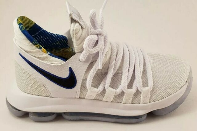 wholesale dealer 20e84 0cc9c Nike Zoom KD10 LMTD NBA GS Kevin Durant Sneaker White Blue 4Y