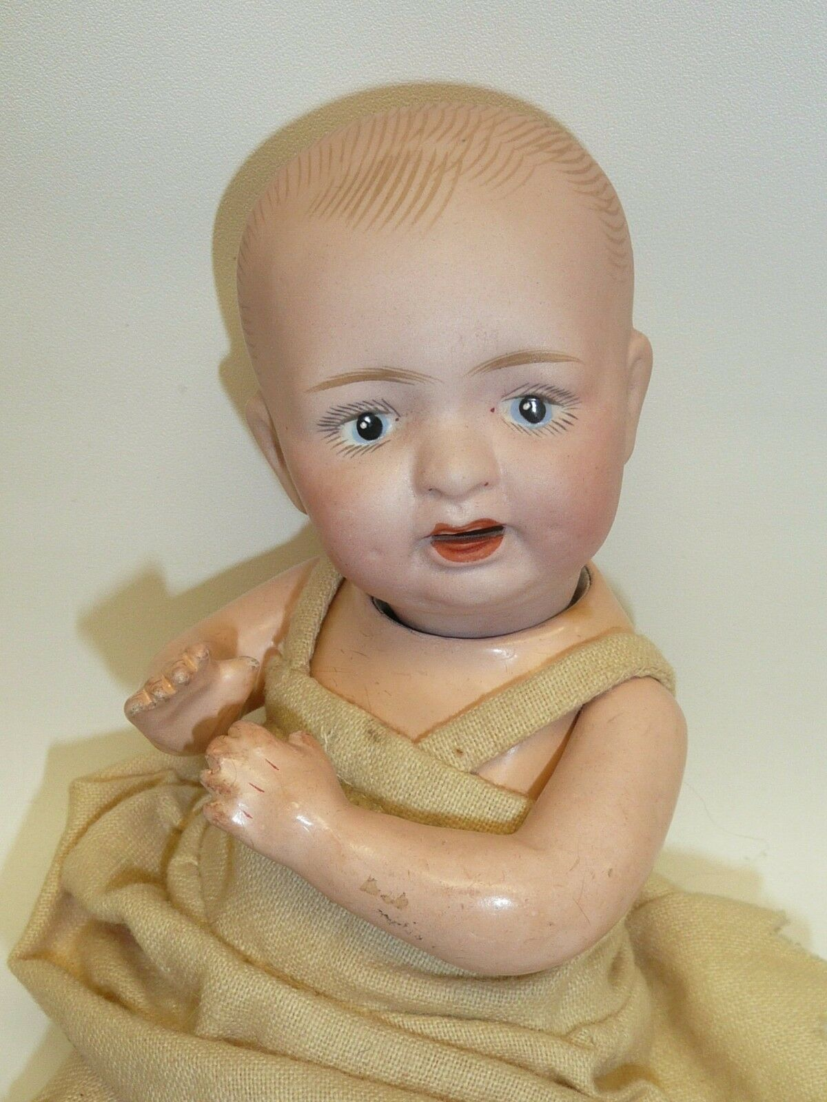 8  Antique Japanese Baby on 5 Piece Compo Body in Really Nice Condition w Blau