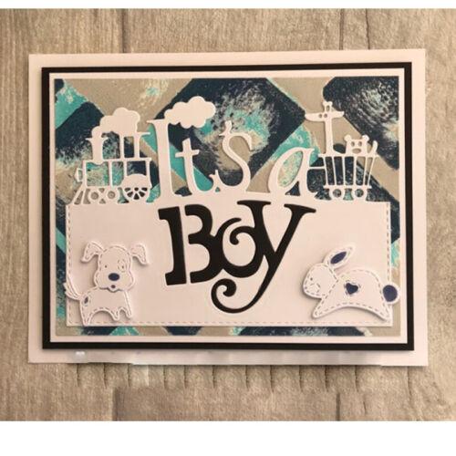 Mixed Creative Words Cutting Dies Stencil Scrapbook Album Embossing Handcrafts
