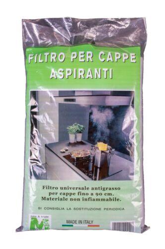 2 PZ FILTRO CAPPA ASPIRANTE UNIVERSALE PER CAPPE FINO A 80 CM ANTIGRASSO ITALY