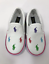 *New* Polo Ralph Lauren White Logo Baby//Toddler Slip On Shoes//Sneakers