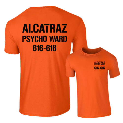Alcatraz Tshirt Tee Top Costume Halloween Prison Psycho Ward Homme Enfants Femme