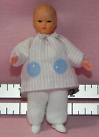 Dollhouse Miniature Doll Baby Pink Stripe Caco German Dollhouse Shoppe 1:12