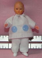 Dollhouse Miniature Doll Baby Pink Stripe Caco German Dollhouse Shoppe 1:12