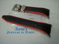 Seiko 22mm Black-orange/red Band: F1 Snl033-snl035-spc001-spc003-snj019 4kz5zz