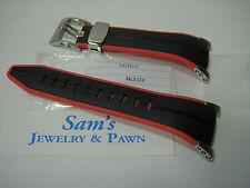 Seiko 22mm Black-Orange/Red Band: F1 SNL033-SNL035-SPC001-SPC003-SNJ019 #4KZ5ZZ