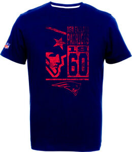 New-England-Patriots-T-Shirt-Tee-NFL-Football-100-BW-Logo-Team-from-Majestic