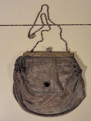 Billiger Preis 800 Silber Tasche Theatertasche Kettentasche Abendtasche 213 Gramm Um 1900