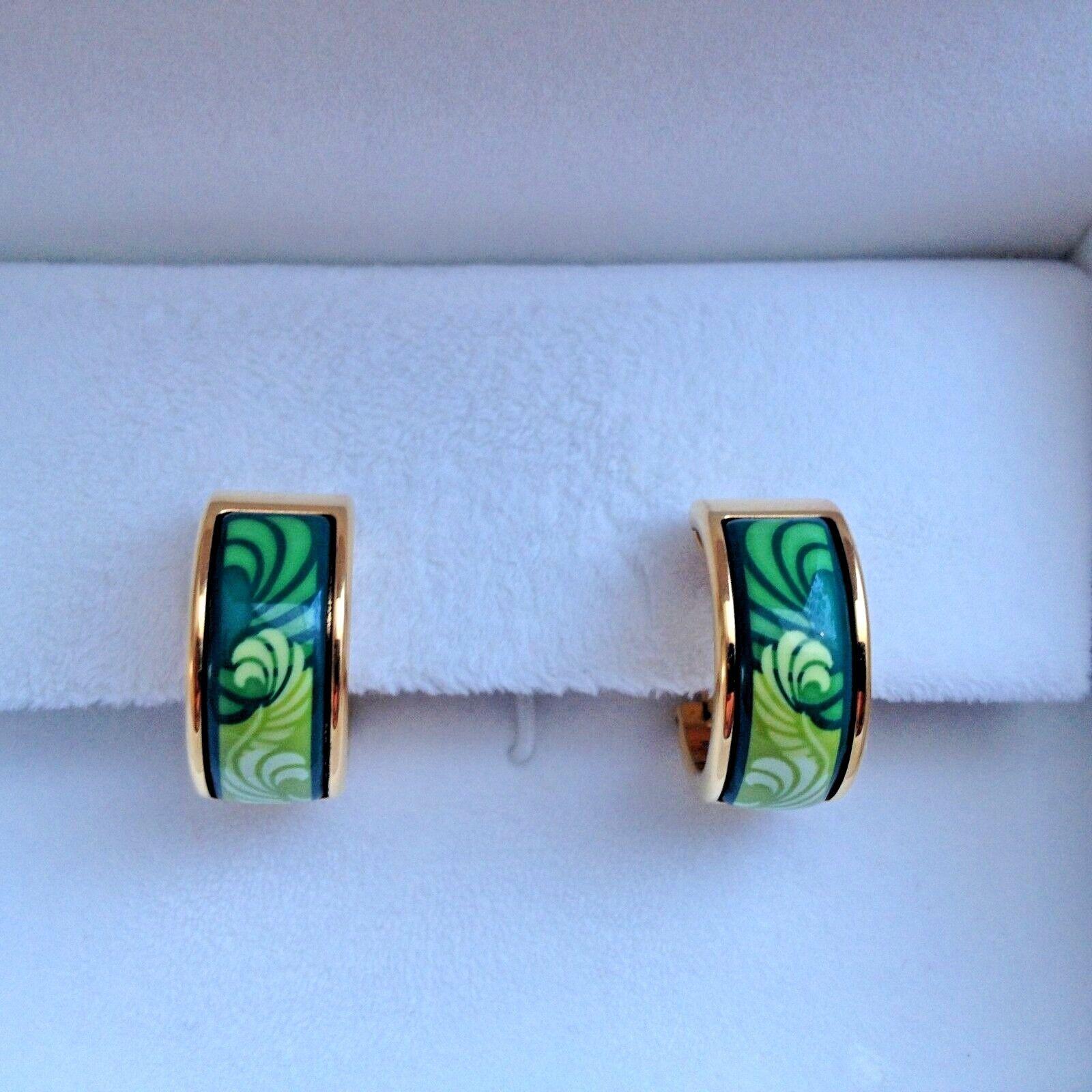 FREY WILLE green Sphinx  earrings.