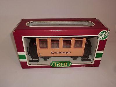 Lehmann LGB Eisenbahn 3011 Personenwagen rot weiss schwarze Fenster