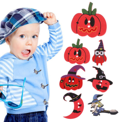 halloween knopf nähen kürbis aus holz handarbeit scrapbooking tuch