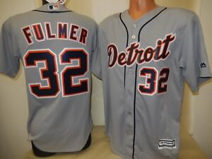 various colors b3416 6d032 Image is loading 999-MAJESTIC-Detroit-Tigers-MICHAEL-FULMER-Baseball-Cool-