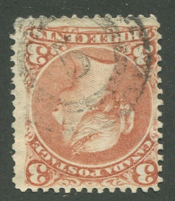 CANADA #25 USED LARGE QUEEN 2-RING NUMERAL CANCEL