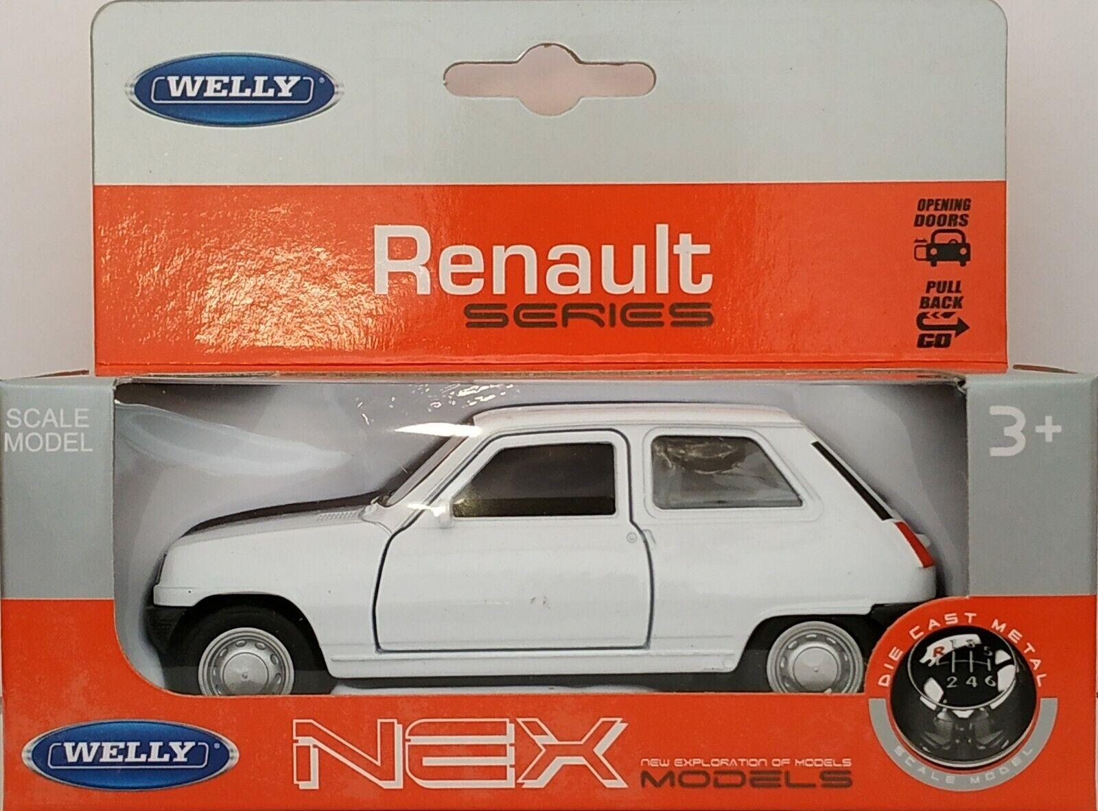 1 34   1 39 RENAULT 5 R5 Weiß WELLY NEX ESCALA
