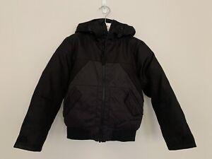 Boys-NEXT-Age-6-Years-Jacket-Padded-Black-Grey-Winter-Hooded