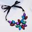 Fashion-Women-Rhinestone-Crystal-Choker-Bib-Statement-Pendant-Necklace-Chain-Set thumbnail 18