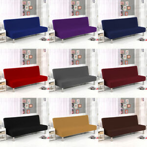 Image Is Loading Stretch Elastic Sofa Bed Cover Slipcover Folding Armless