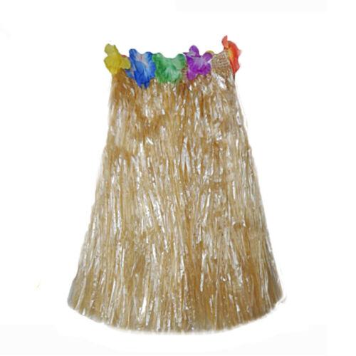 Unisex Hawaiian Hula Skirt Ladies Mens Grass Luau Fancy Dress Accessory IN9Z