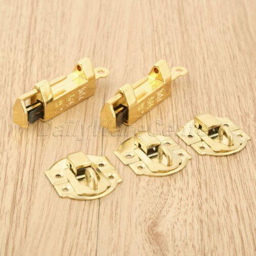 10pcs//set Vintage Gold Trinket Suitcase Jewelry Box Latch Clasp w// Retro Padlock