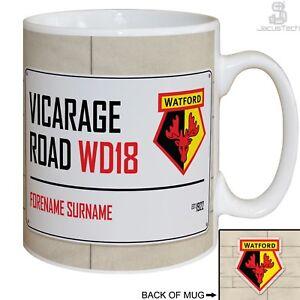 3b7a71e1af6 Image is loading Personalised-Watford-FC -Mug-Cup-Customised-Football-Birthday-